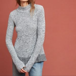 Anthropologie Mock Neck Sweater Rosie Neira Sz S